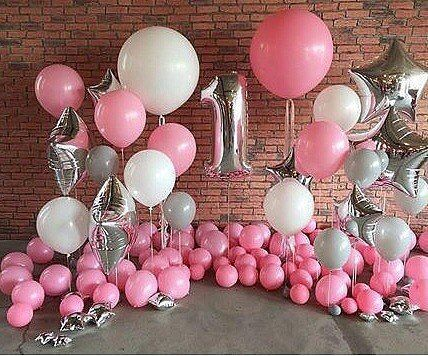 Fun to Be One Pink Party Balloons Baby Pinterest Pink parties