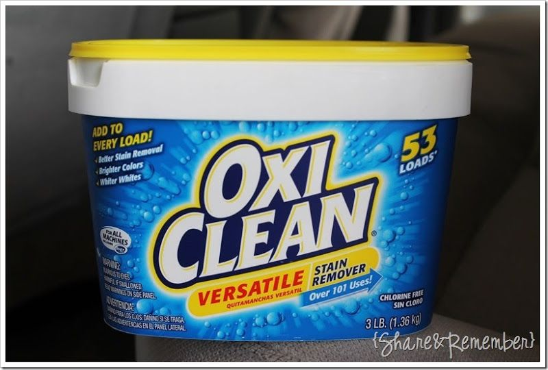 Oxiclean Versatile Stain Remover For Car Upholstery Arm