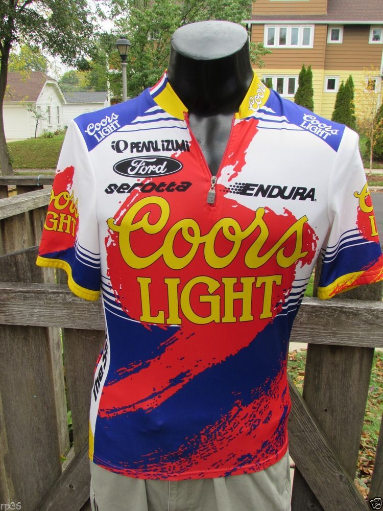 5edfc8d90 Coors Light Beer Jersey Mens L Pearl Izumi Cycling Shirt Bike Race short  sleeve  PearlIzumi