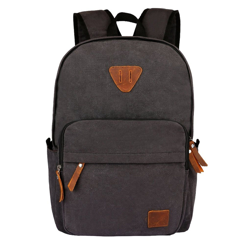Amazon.com  OXA Canvas Backpack Laptop Bag Computer Bag Rucksack Daypack  College Bag School Bag Book Bag Satchel Bag Travel Bag Camping Bag Hiking  Bag ... 84eb13c74b475