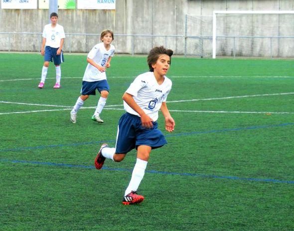 O Dumbría consegueu a primeira vitoria na Liga Galega Infantil