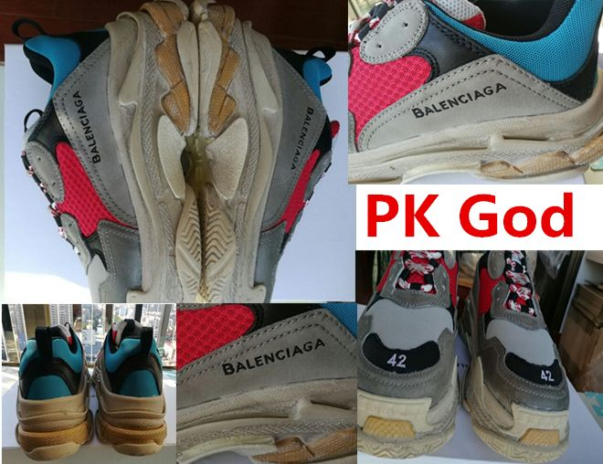 cheapest Balenciaga Triple S Trainer Yellow Blue Red multi colour authentic  PK God real vs fake