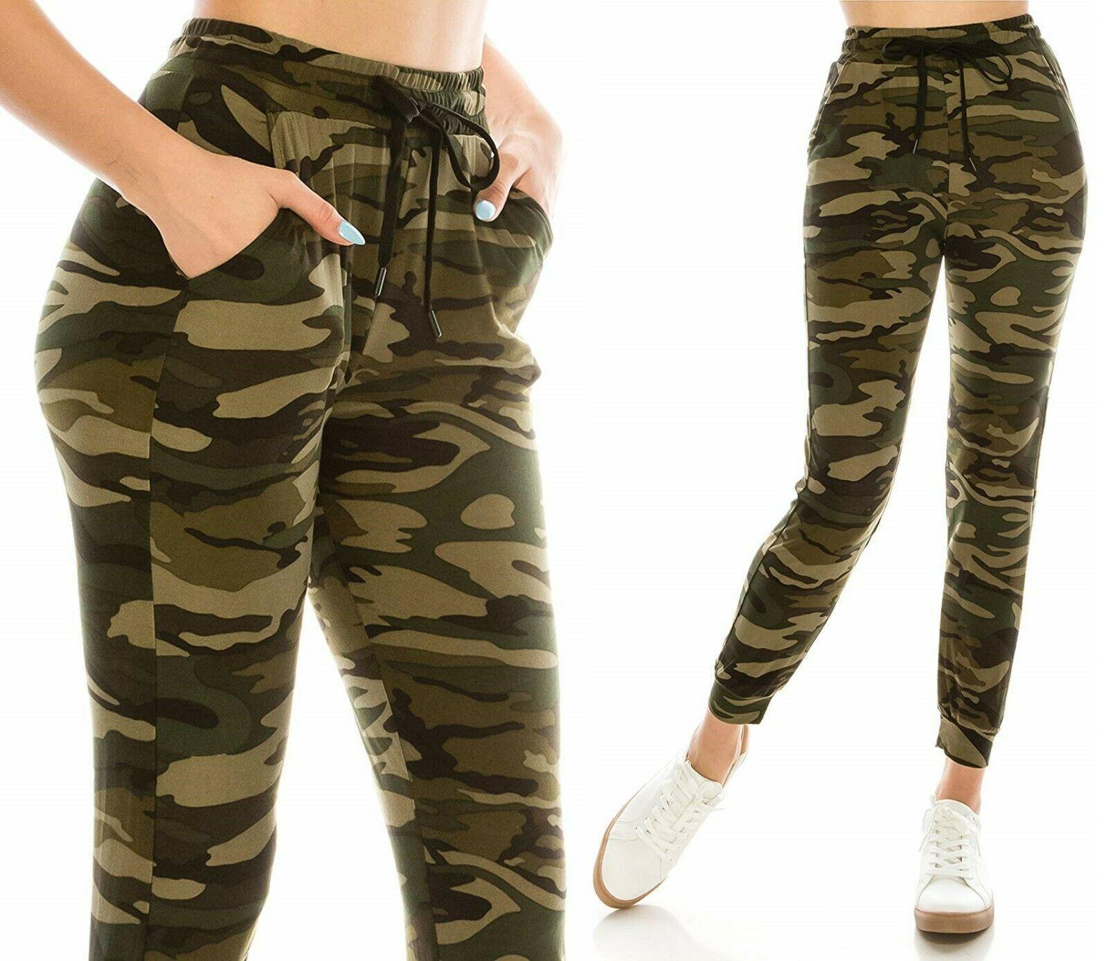 21++ Womens camo joggers sweatpants trends