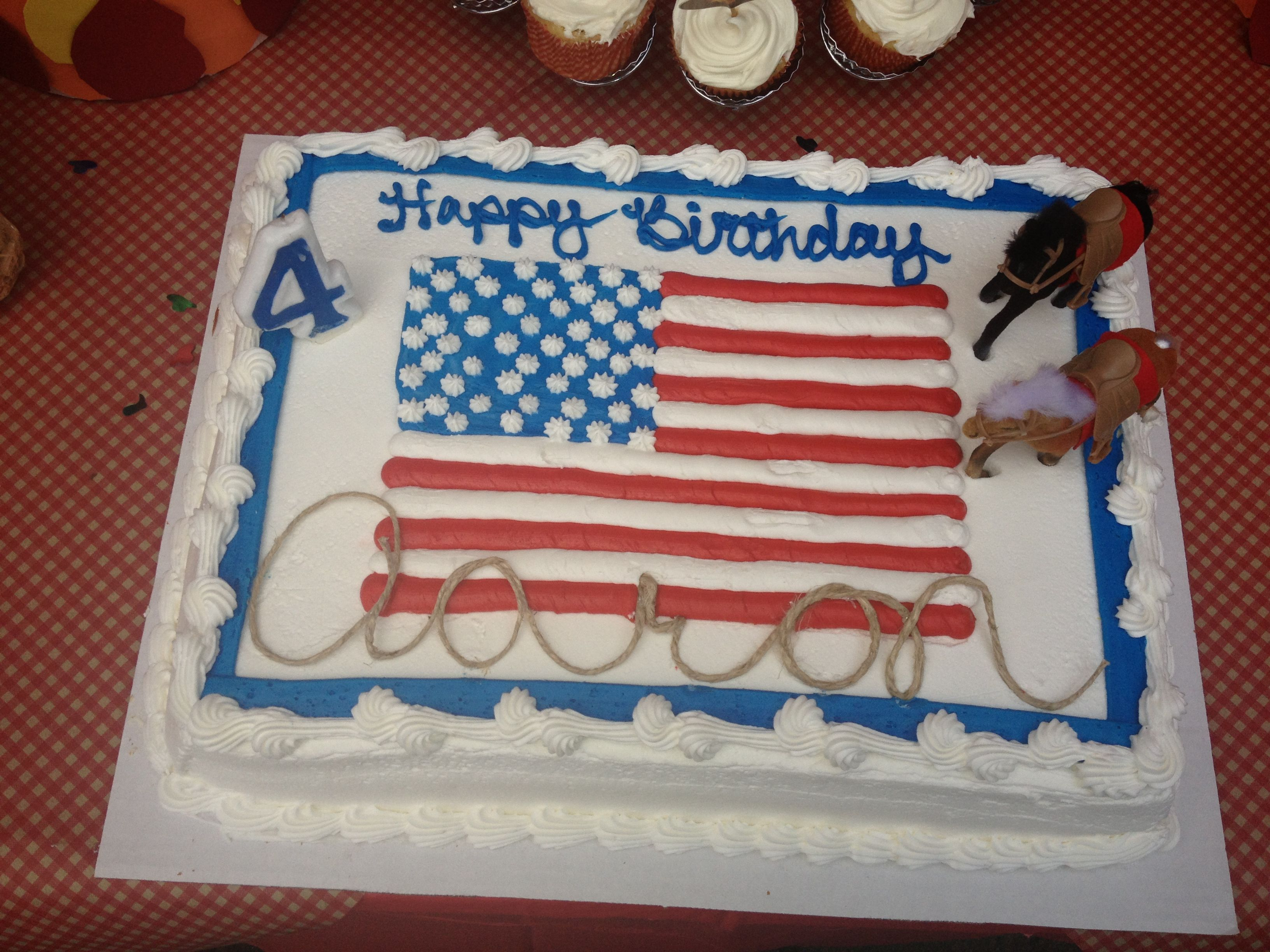 Costco 4th of July cake converted to a western cake
