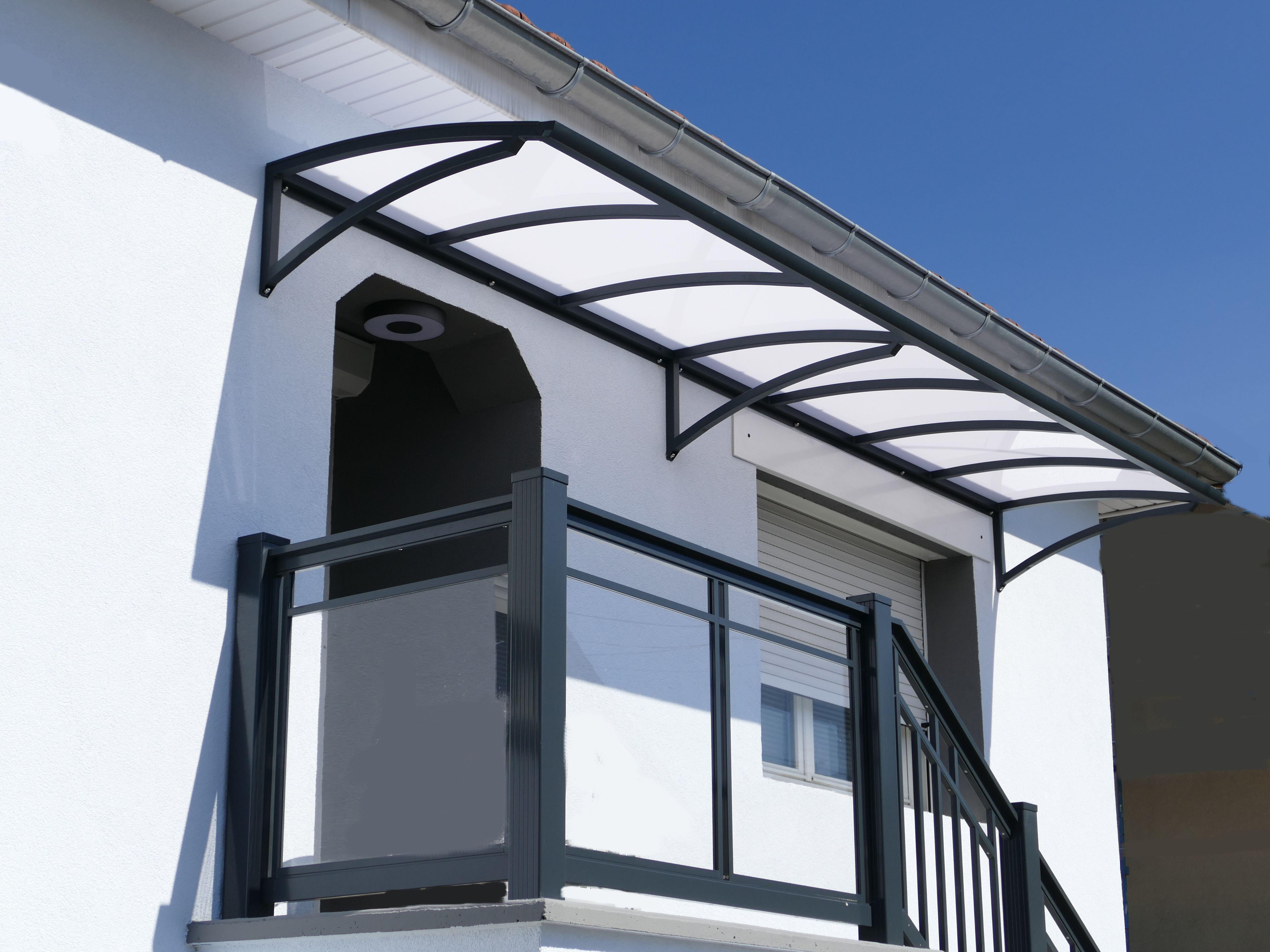 Marquise Aluminium Sur Mesure Marquise Polycarbonate Anavi Entree Maison Moderne Escalier Exterieur Entree Maison