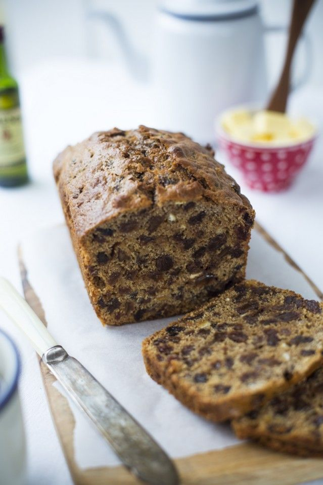 Irish Barmbrack...A rich fruit loaf packed with whiskey & tea soaked fruit and spices. |