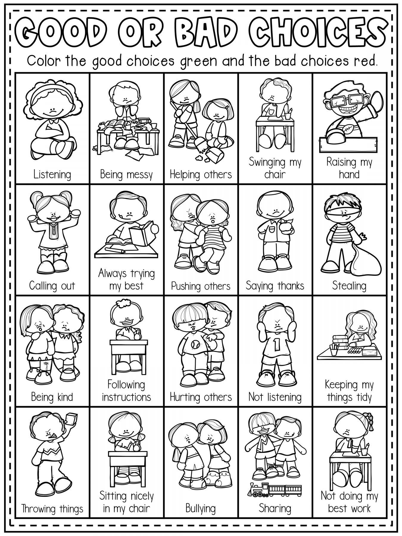 9 School Rules Worksheet Kindergarten