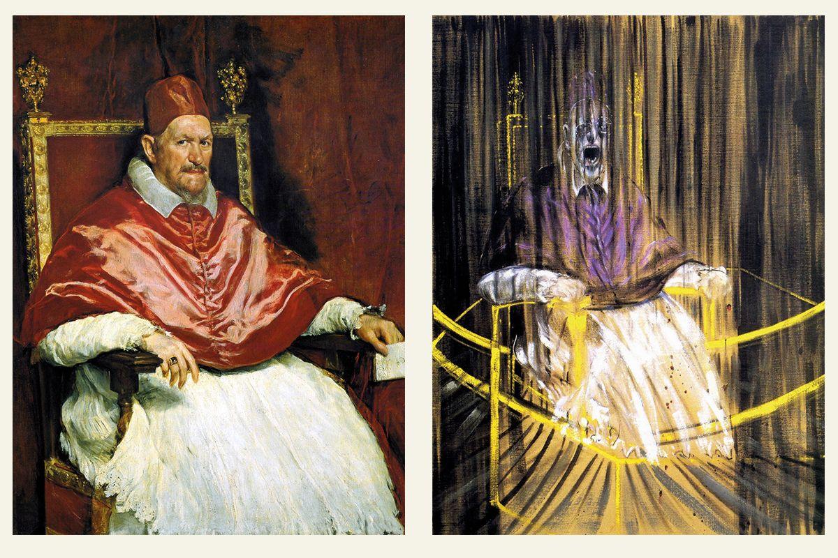 Диего Веласкес - Портрет папы Иннокентия Х / Фрэнсис Бэкон - Кричащие папы | Фрэнсис бэкон, Портрет, Папы