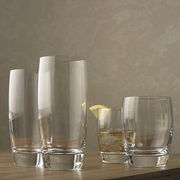 Otis Double Old Fashioned Glasses Set Of 12 Reviews Crate And Barrel Glasses Drinking Glass Cup Set Glass Set
