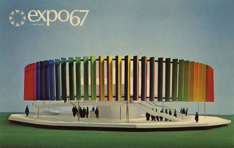 Postcards from Expo 67 in Montreal, 1967 #design #storia #allestimetno