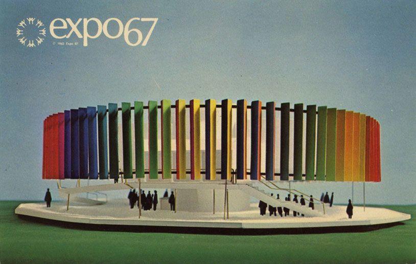Postcards from Expo 67 in Montreal, 1967 #design #storia #allestimetno
