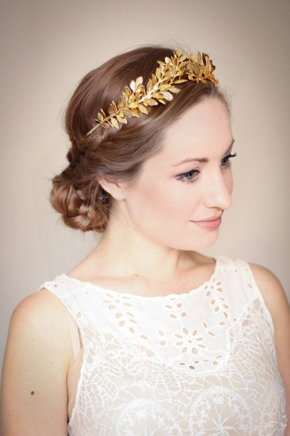 Tiara Leaf Halo Gold Leaf by AnnaMarguerite 25577fe3232