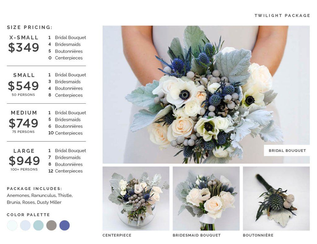 Twilight Flower Package Weddings Events and Parties