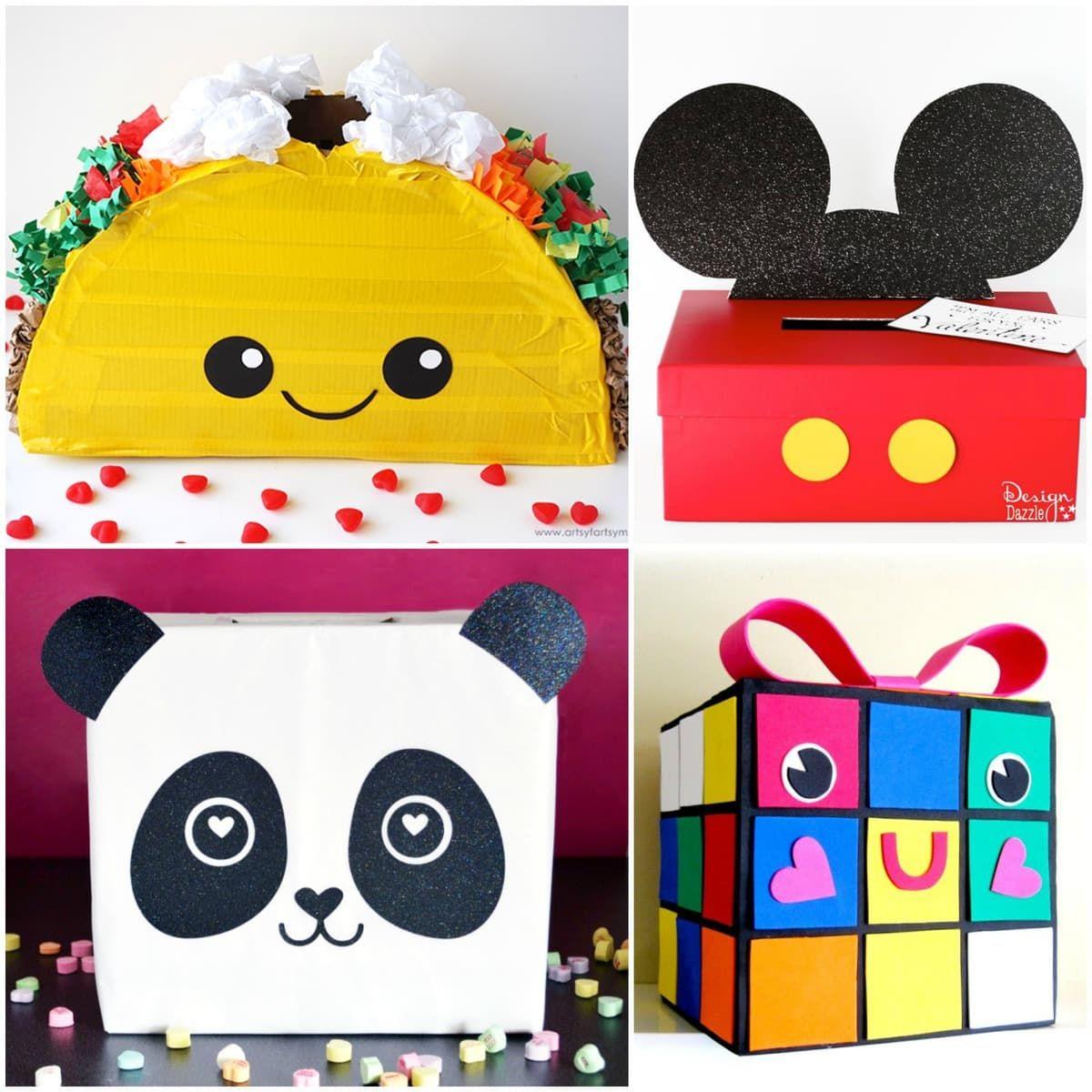 Valentines Box Ideas - Step-by-Step Unicorn, Robot & More! | Lil' Luna