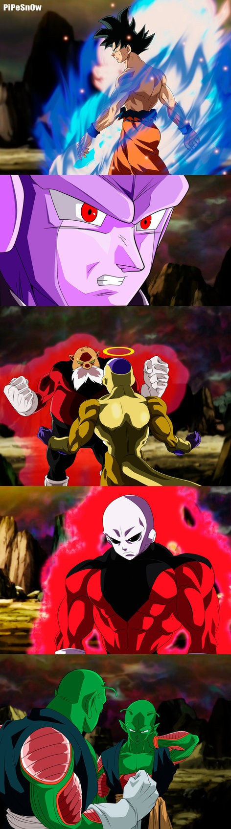 Goku Hit Toppo Golden Frieza Jiren Saonel And Pirina Dragon Ball Z Dragon Ball Dragon Ball Art