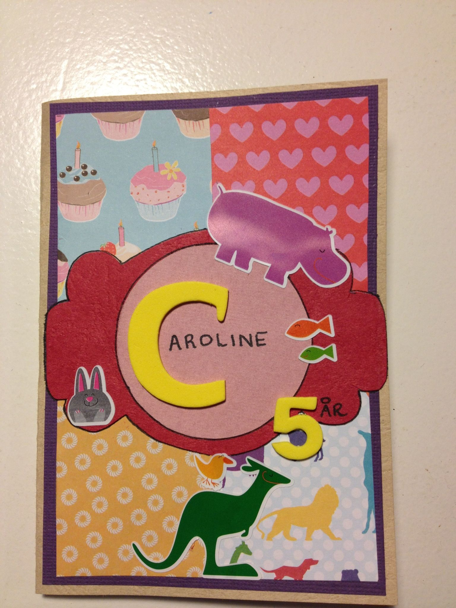 Homemade birthday card for 3 year old girl My Stuff – Homemade Birthday Card