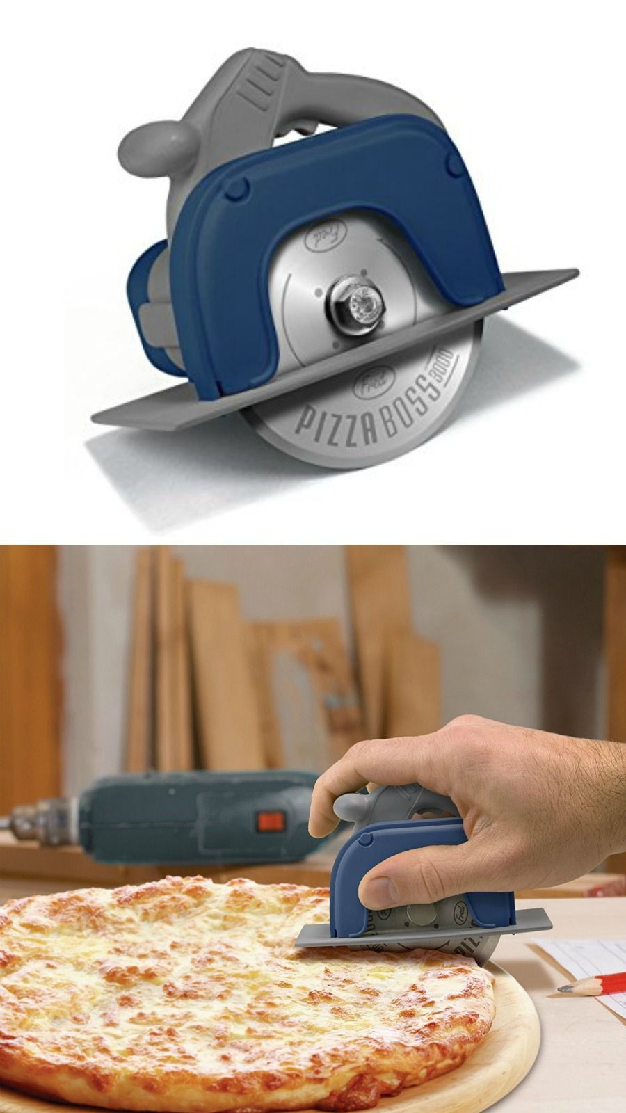 Novelty Pizza Cutter Shaped Like A Circular Saw The Pizza Wheel Makes Whoever S Doing The Christmas Gifts For Adults Christmas Gifts For Parents Parent Gifts