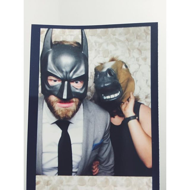 fabulous vancouver wedding That time Nat was basically Batdad and I was a horse. #leahandmattgetmarried #mattandleah2015 #photobooth #westcoastwedding by @catarinahaber  #vancouverphotobooth #vancouverwedding #vancouverwedding