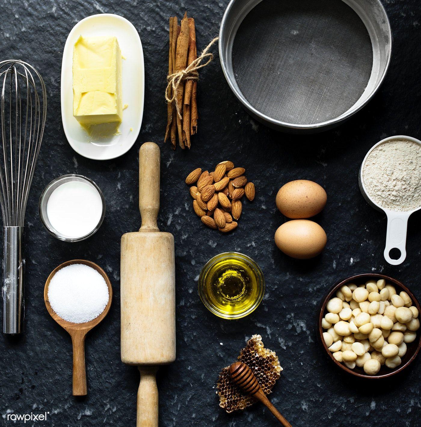 Download Premium Image Of Bakery Ingredients 94924 Ingredients Photography Baking Photography Food Photography Cake