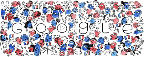 Fête Nationale Du 14 Juillet Google Doodles Bastille Day Doodles