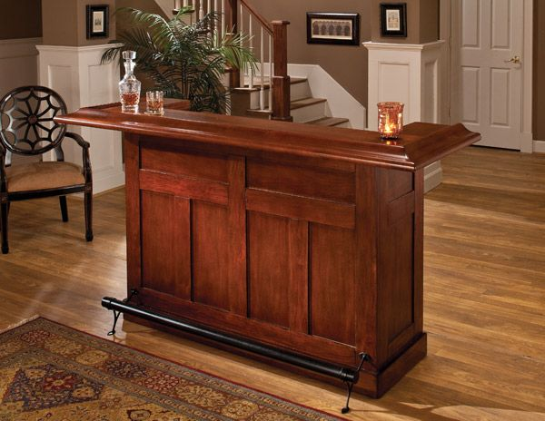 Classic Large Bar (Cherry Finish) is part of Large Living Room With Bar -