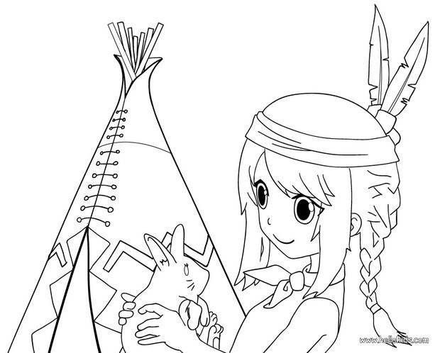 INDIAN coloring pages - Indian Totem | Indiáni | Pinterest
