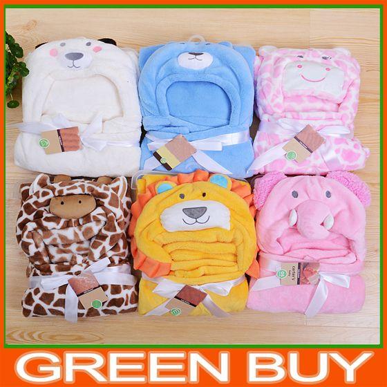 couverture polaire bébé pas cher Pas cher Livraison gratuite couvertures tête d'animal petite laine  couverture polaire bébé pas cher
