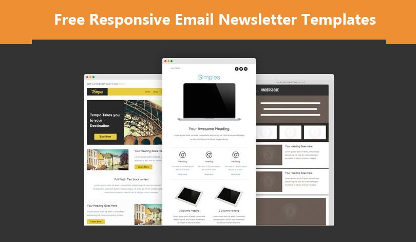 Free Responsive Email Newsletter Templates For Marketing