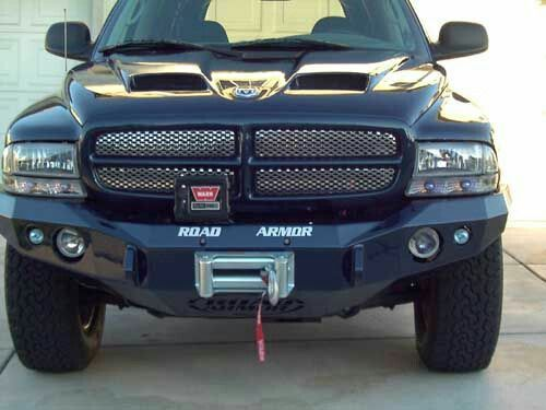 Yes To All The Hood Bumper W Winch Grille Insert Dodge Dakota Truck Accessories Dodge Dakota Lifted