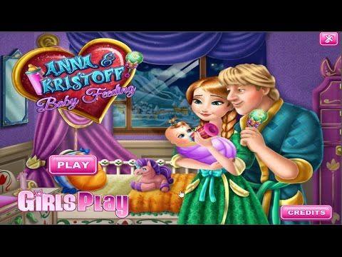 Anna And Kristoff Baby Feeding Game - Juego bebe de Anna y ...