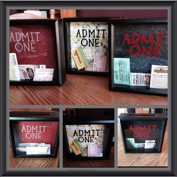 Cool Wedding Gifts For Young Couples: ADMIT ONE Ticket Stub Shadow Box