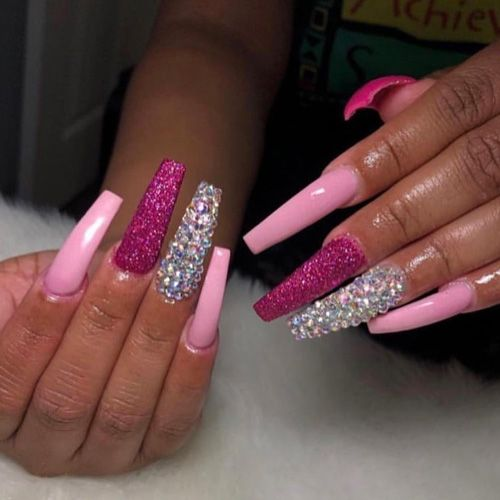 55 Of The Best Valentine S Day Nails For 2020 In 2020 With Images Valentine S Day Nails Valentines Nails Pink Nails