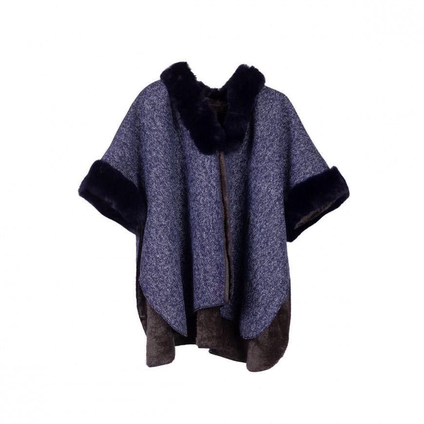 كارديغان شال صوف دافيء كحلي Blankets Throws Cardigan Fashion