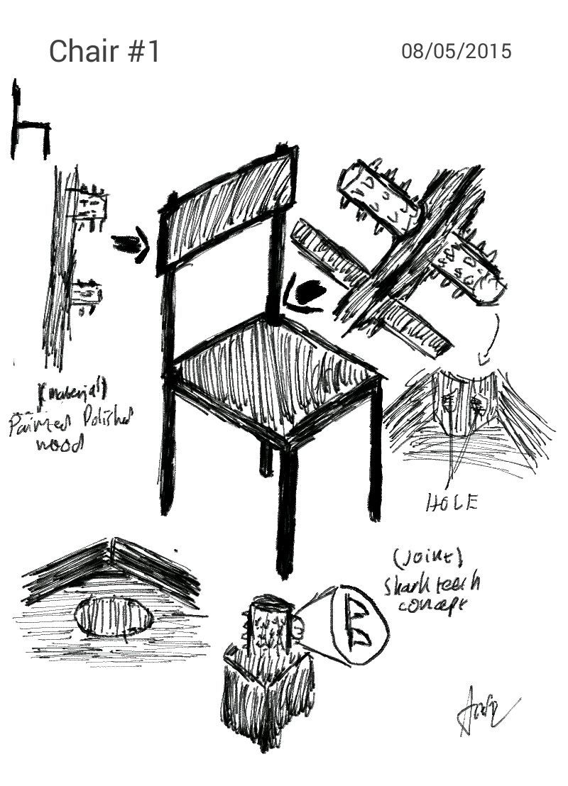 simple chair diagram