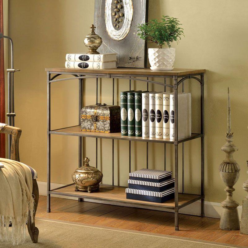 Wylde Natural Oak Finish 3 Tier Bookcase
