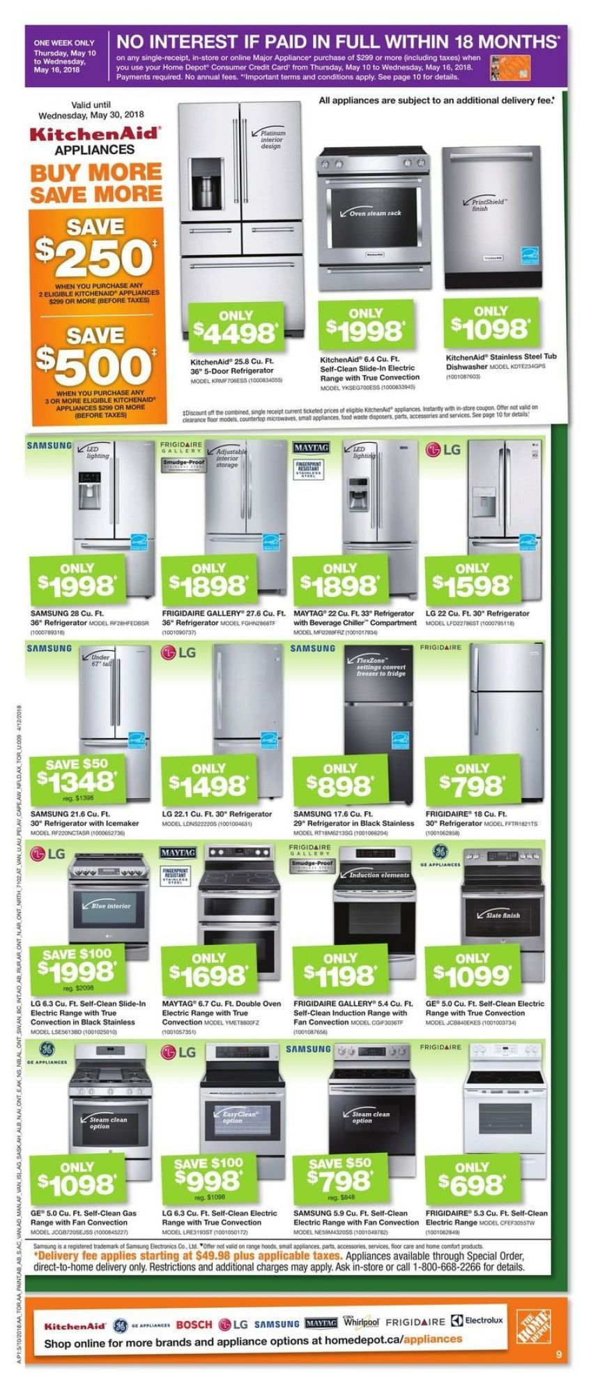 Flyer Home Depot On Canada From Thursday May 10 2018 To Wednesday May 16 2018 Home Depot Home Depot Store Flyer