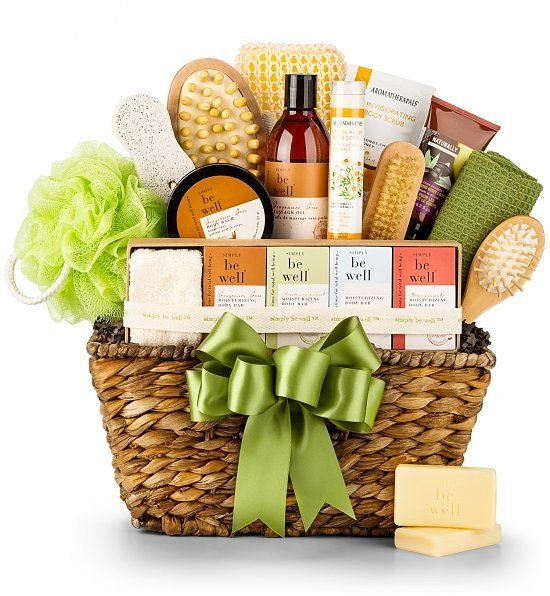 Organic Spa Gift Basket | Semihome-made gift ideas | Pinterest | Spa ...