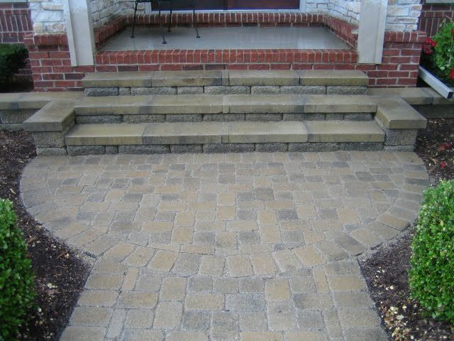 Bon Paver Patio On Stair Landing | Remember To Address The First Signs Of The  Brick Pavers Settling In .