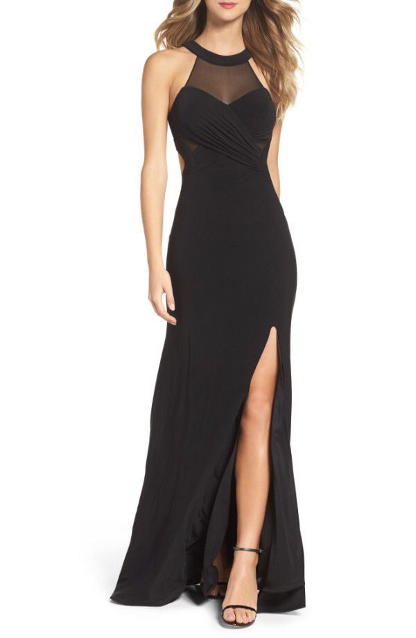 Xscape Xscape Mesh Jersey Gown Regular Petite Available At