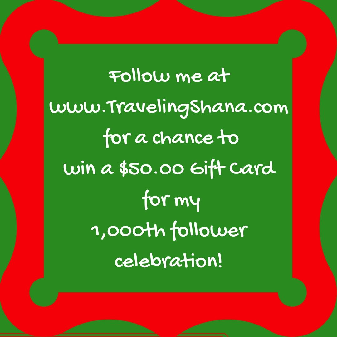 Follow me at for a chance to win a