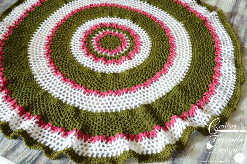 Summer Trellis Round Afghan Crochet Pattern | Cobija y Manta