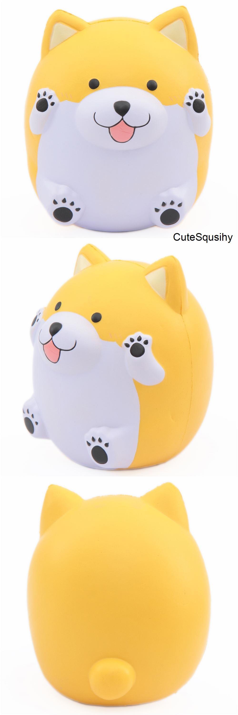 squishy perfumado amarillo cachorro jumbo paw paw puppy de pat pat zoo