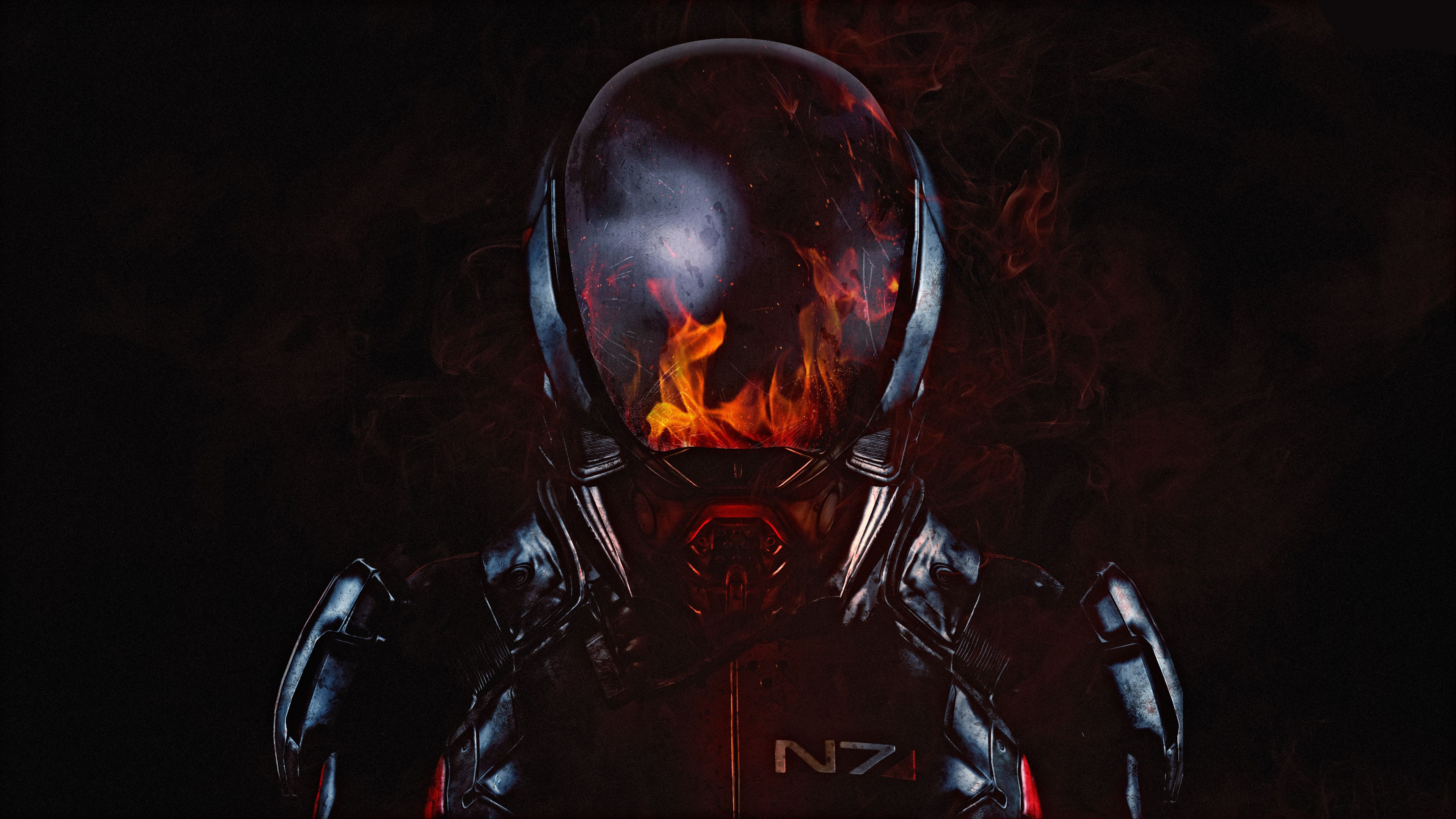 Fire Mass Effect Andromeda 4k Http Www Pixel4k Com Fire Mass Effect Andromeda 4k 7235 Html Andromeda Effect Exo Fire Ma Mass Effect Hd Wallpaper N7 Armor