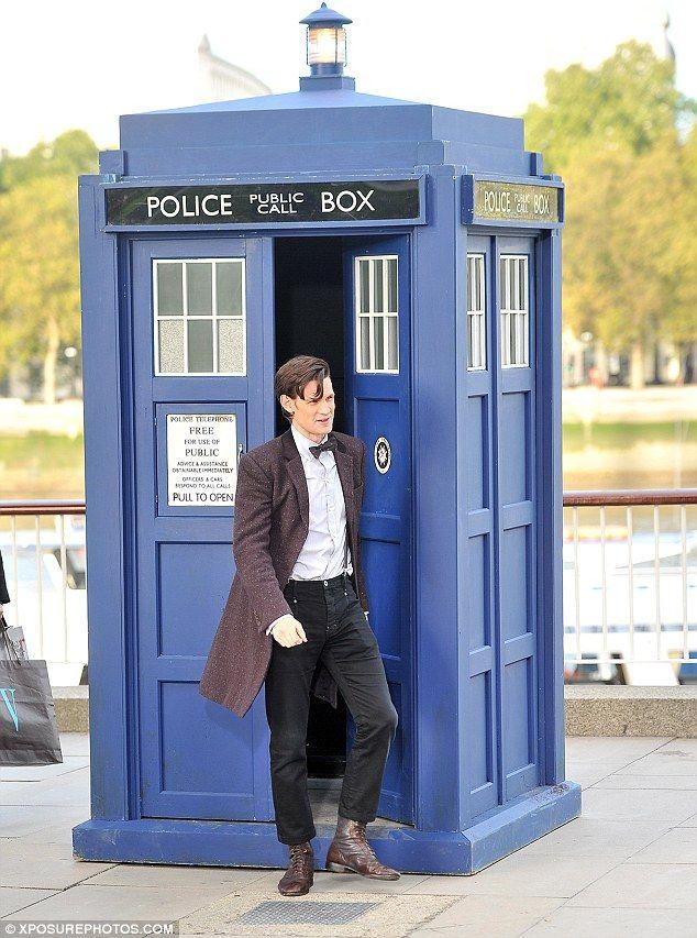 Matt Smith and the TARDIS