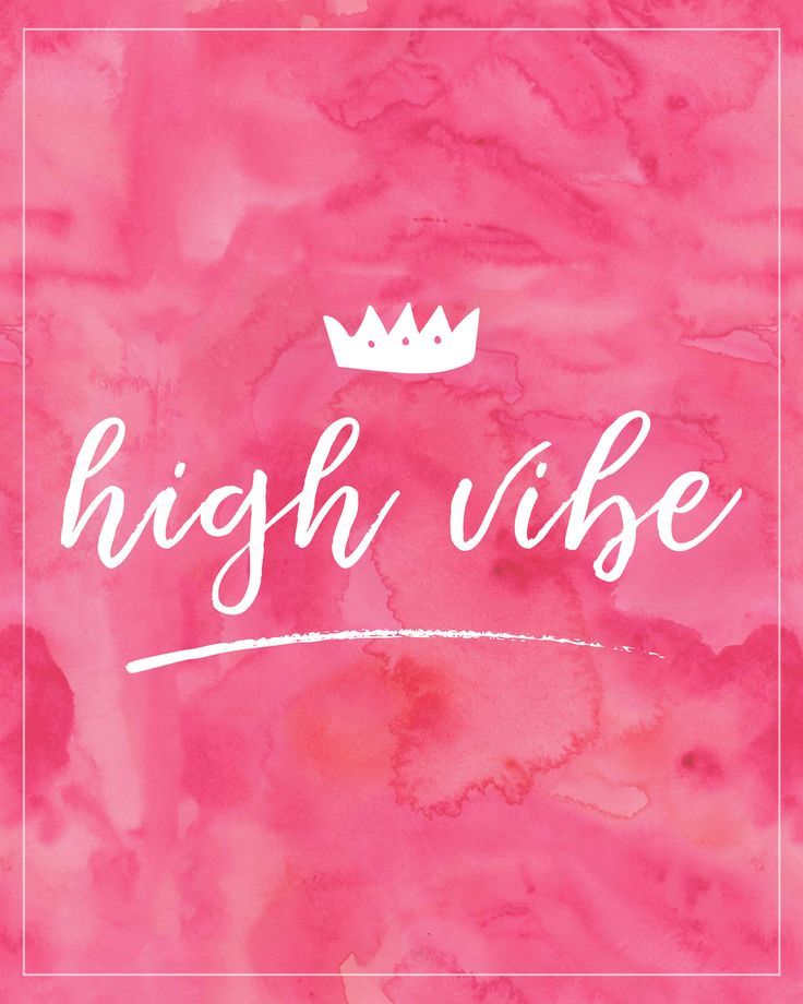 Positive Vibes Quotes Tagalog: High Vibe Pink Inspirational Poster, High Vibe Art, High