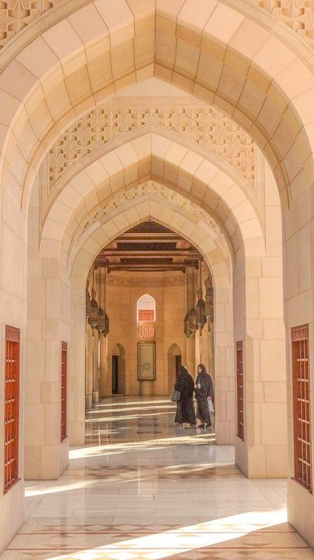 Sultan Qaboos Moschee, Muscat, Oman