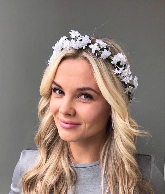 Wedding White Flower Crown: White Flower Crown Wedding Flower Crown Adult Wedding