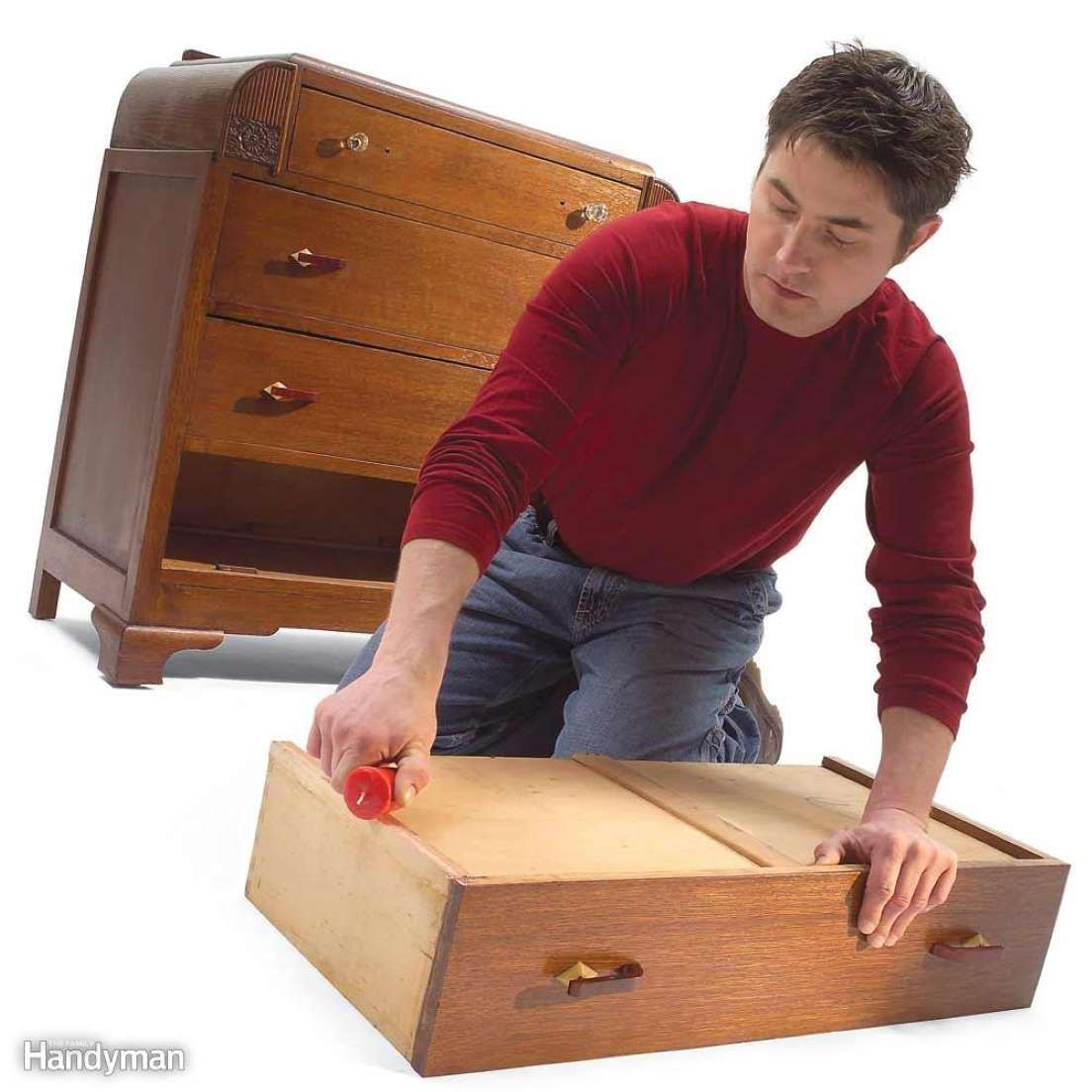 Candle Wax Is A Handy Lubricant For Old Drawers Or Any Furniture That Has Wood Sliding Against Wood Familyhandym Old Drawers Drawer Repair Wooden Drawers