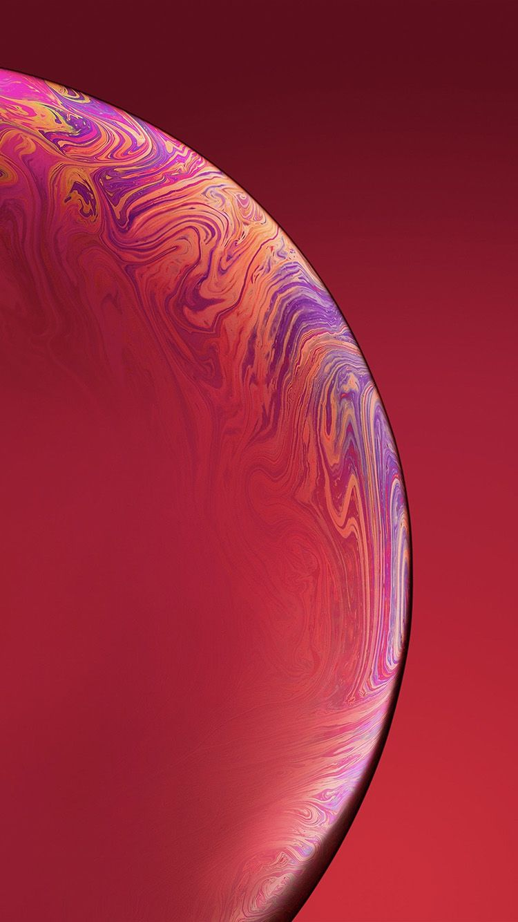 Bg43 Red Apple Iphone Xs Max New Official Art Bubble Apple