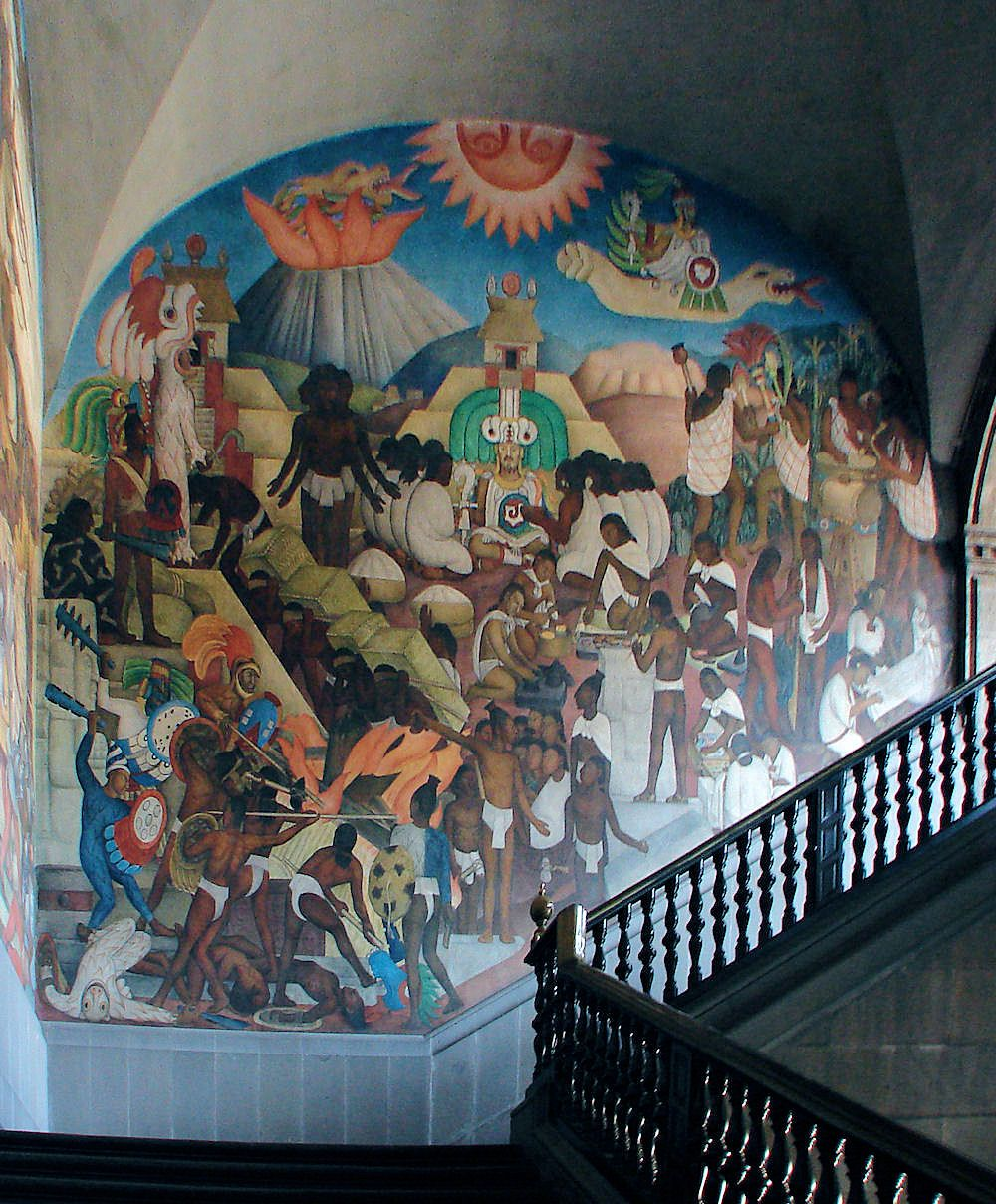 Mural 1929 1930 by diego rivera the legend of for Diego rivera mural 1929